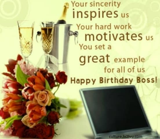 Birthday Wishes Sayings For Boss ~ Happy birthday boss quotes quotesgram
